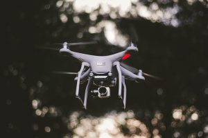 Dji Phantom 4 pro drone hovering