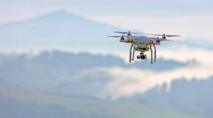 Dji Phantom 3 pro drone hovering
