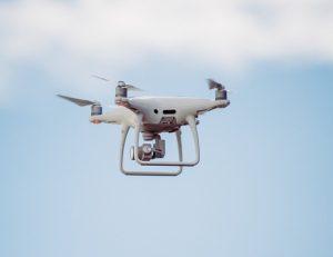 Dji Phantom 4 drone hovering