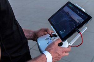 Dji controller with iPad