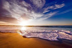 waves on sunset beach