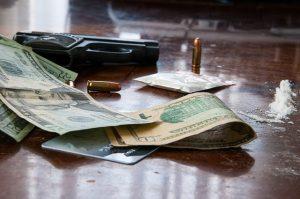 drone drug dealer gun money cocaine