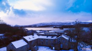 Drone view of Gartan Outdoor Adventure centre in Donegal