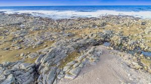Drone pic of donegal rocky Coast in fanad