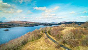 Gartan Lough aerial photograph Church hill