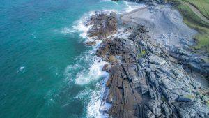 Coastal blue green sea in Donegal