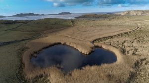 aerial view of pond at Gortnatragh in Donegal