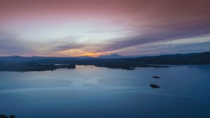 sunset over Mulroy bay in Donegal