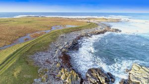 Drone pic of donegal Coast in fanad