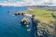 Aerial view of beach in Donegal