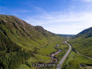 Barnesmore Gap drone photo