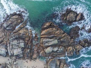 drone coastal shot of garlands beach