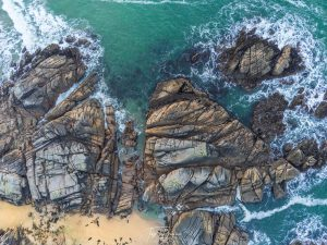 drone coastal shot of arlands beach