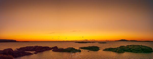 Arlands Keadue beach golden sunset