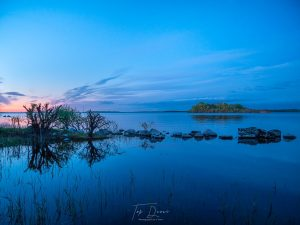 Deep Blue Sunset over Lough Ree