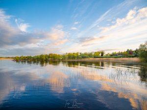 Sunrise reflecting on Lough Ree