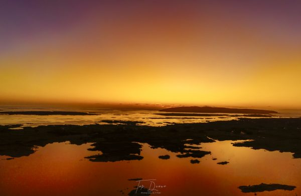 Lough Meela at sun set