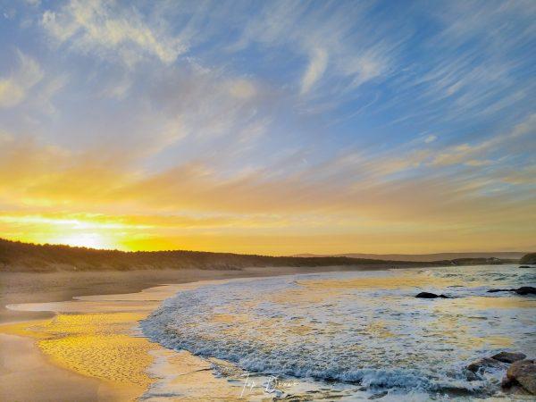 arlands beach with beautiful sunrise