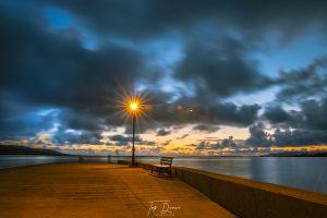 sunset over dungloe pier