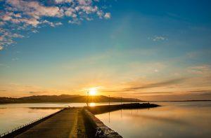 sunsetting dungloe pier