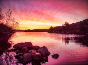 amazing purple sunset on Burtonport