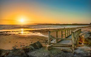 Beautiful sunset on Maghery beach