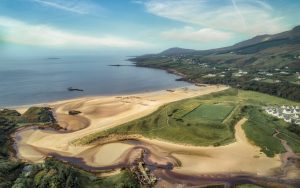aerial photo of fintra GAA pitch