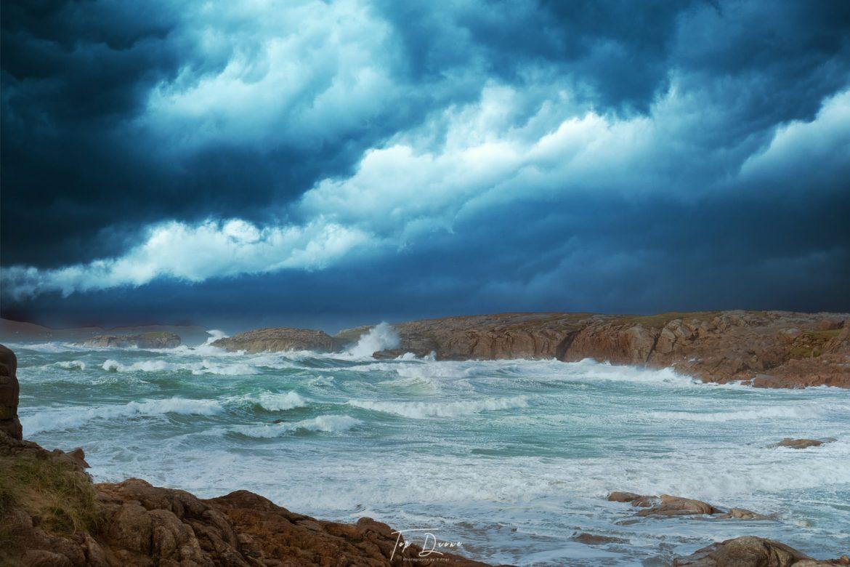 Dark stormy seas from Cruit Island